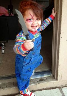 I should make Lilly dress as chucky for Halloween