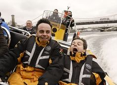 haha something tells me dec werent enjoying the ride - ant and dec