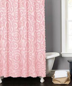 Look at this #zulilyfind! Pink Stella Shower Curtain by Lush Décor #zulilyfinds