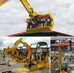 Top 10 Weird Theme Parks - Diggerland , located in four locations throughout England, is all about adventure…using construction machines and vehicles. Construction Machines, Construction News, Grand Parc, Attraction, Heavy Machinery, Heavy Equipment, Mining Equipment, Parcs, Amusement Park