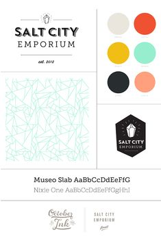Salt City Emporium Branding by October Ink Another palette that may be played out- but still my eyes love these colors together
