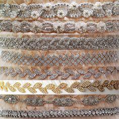 Luxury Fashionable Crystal Beaded Bridal Belt Diamond Weddding Accesories Sash