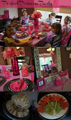 Princess Party tips and ideas. Simple recipes: cupcakes, fruit wands, crown finger sandwiches. Fun pampering activities fit for a princess: girls hair and nail salon, doll hair salon. AD