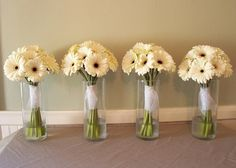 Simple daisy boquets