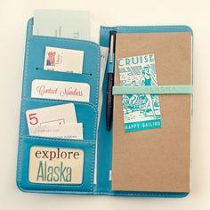 ADORABLE travel organizer & journal