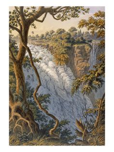 Victoria Falls: the Leaping Water (Colour Litho) Giclee Print by Thomas Baines - at AllPosters.com.au
