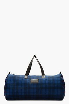 Marc By Marc Jacobs Navy Mesh Packables Duffle Bag for men | SSENSE