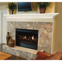 Transitional Fireplace Mantels, White Fireplace Mantels, Wood Mantel Shelf, Fireplace Shelves, Wood Mantels, Home Fireplace, Fireplace Remodel, Fireplace Design, Fireplace Ideas