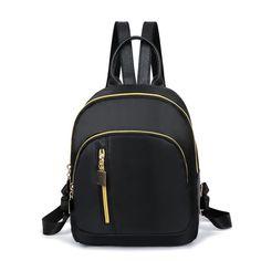 2019 New Women Backpacks Black Waterproof Nylon School Bags for Teenage Girls Casual Small Travel Fashion Tote Backpack mochila Backpack For Teens, Small Backpack, Mini Backpack, Black Backpack, School Bags For Girls, Girls Bags, Cute Backpacks, Girl Backpacks, Cheap Backpacks