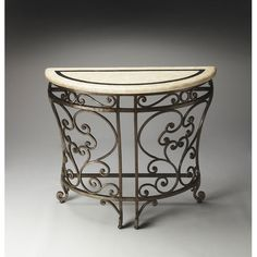 Metalworks Cheverny Demilune Console Table