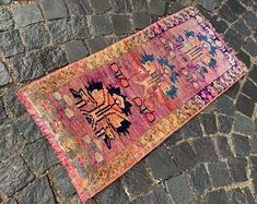 Turkish rug Vintage rug Handmade rug Oushak rug by DRNRUGS Bohemian Rug, Boho Decor, Entryway Rug, Geometric Rug, Types Of Rugs, Hand Knotted Rugs, Small Rugs, Handmade Rugs, Soft Rugs