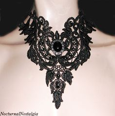 Victorian Vampire Art | Night Fall Black Lace Victorian Vampire Gothic choker #FAV [#FAV] - $ ...