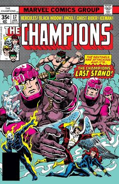 Comic Book Critic - Google+ - The Champions #17 (Jan '78) cover by Ernie Chan.
