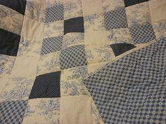 Blue Quilt Baby Quilt Blue Toile