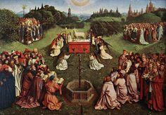 Detalle del retablo del Cordero Místico
