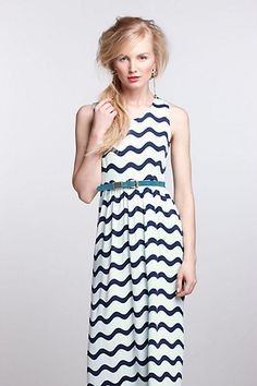 Just got this directly from Dusen Dusen. Color is much more mint than white. Waves Midi Dress - Anthropologie.com