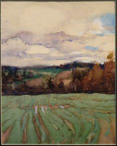 Viktor Popkov's watercolor