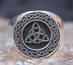 New Celtic TRIQUETRA CHARMED Infinity knot Ring Silver Sterling Silver 925 Jewelry