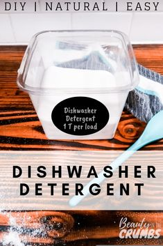 Low waste soap A DIY powder dishwasher detergent that is all-natural, easy to make and actually works! Non toxic ingredients and no soap grating! All Natural Cleaning Products, Homemade Cleaning Products, Cleaning Recipes, Cleaning Tips, Household Products, Cleaning Supplies, Household Cleaners, Natural Products, Household Tips