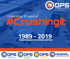 OPS Screening & Crushing have been #CrushingIt for 30 years as of this year.   We are proud of our accomplishments and look forward to the future.