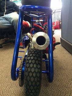Mini Bike Stinger Exhaust, from Little BadAss, with Stinger exhaust