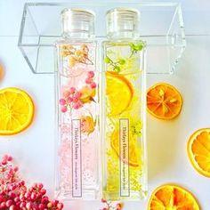 … Candy Drinks, Fun Drinks, Korean Tea, Botanical Interior, Fruit Combinations, Cute Water Bottles, Flower Bottle, Flowers In Jars, Soap Packaging