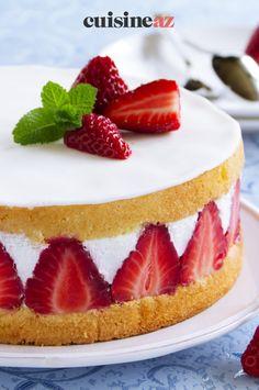 Le fraisier est un gâteau avec des fraises que l'on peut préparer comme dessert à Pâques. #recette#cuisine#fraisier #fraise #fruit #paques#patisserie Comme, Dessert, Fruit, Home Made, Deserts, Postres, Desserts, Plated Desserts