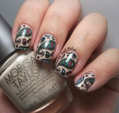 The Clockwise Nail Polish: Messy Mansion MM 48 Stamping Plate Review