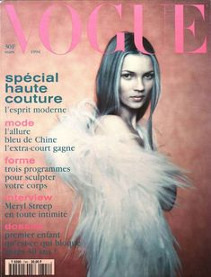 OBSESSED with this! Kate Moss par Paolo Roversi première couverture Vogue Paris mars 1994