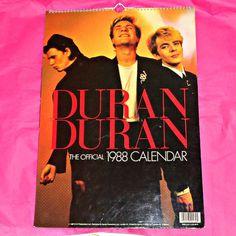 Rare Duran Duran Official 1988 Danilo by OwlVintageCalendars