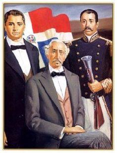 Duarte, Sánchez y Mella: Padres de la Patria Dominicana.