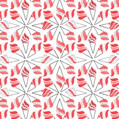 I.C.E. C.R.E.A.M #pattern #patternpattern #icecream #patternicecream #marineweil #motif Nice Cream, Illustrations, Quilts, Blanket, Pattern, Pink, Illustration, Quilt Sets, Patterns