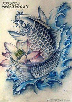 Koi Tattoo Sleeve, Carp Tattoo, Sak Yant Tattoo, Koi Fish Tattoo, Japan Tattoo Design, Koi Tattoo Design, Japanese Tattoo Art, Japanese Tattoo Designs, Baby Tattoos