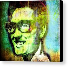 Buddy Holly Canvas Print featuring the painting Buddy Holly by Otis Porritt