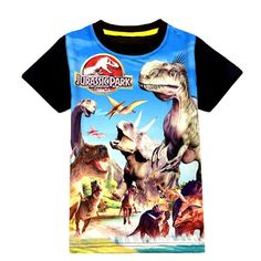 Summer Jurassic Park 3 thru 9 years old Spiderman Full Color Print tee t-Shirt boys guys girls Child
