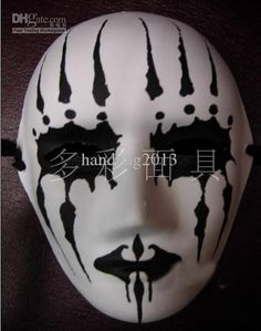 Blank Face Masks To Decorate Scary White Long Hair Hag Shape Masquerade Party Halloween Mask