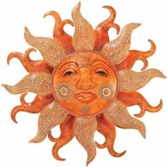 Outdoor Sun Face Wall Art by Regal Art and Gift | Outdoor Wall