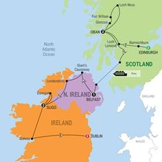 SCOTTISH AND IRISH CONNECTIONS 2015 - 11 DAYS FROM $2,895* - An in-depth insight into the legends, lifestyles and landmarks which fuse Ireland and Scotland, and their unique attractions, like the legendary stories of the Titanic, the Loch Ness Monster, Giant's Causeway and Guinness. #Dublin #Sligo #Belfast #Oban #Edinburgh