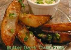 Joyously Domestic: Butter-Garlic Oven Fries
