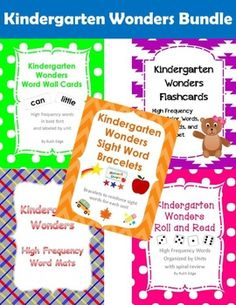 Kindergarten Wonders Bundle