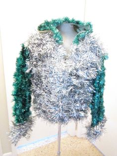 Flashy... Medium to large Ugly Christmas Garland Sweater by MotherFrakers