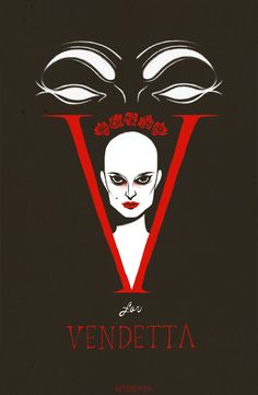 Tumblr artist Kippery put together this sinister French-looking movie poster for V for Vendetta (2005). Looks like it could just take a bite out of you.