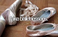 take ballet lessons #bucketlist