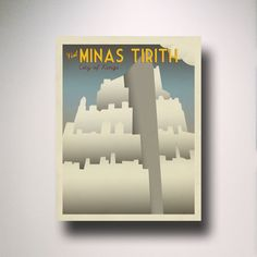 Lord of the Rings / Vintage Travel Poster / Minas Tirith