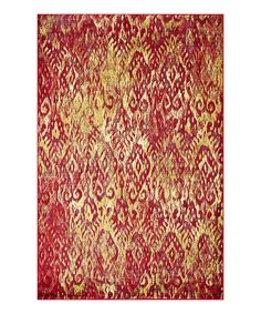 Take a look at this Poinsettia Lyon Rug on zulily today!