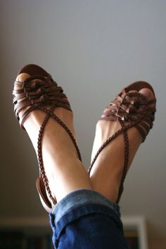 A cute pair of summer sandals.