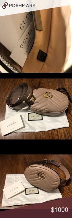 d2448a6e88b Gucci GG Marmont Matelassé Belt Bag New authentic Gucci GG Marmont  matelassé leather belt bag in