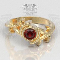 Glorious Zelda Hyrule Warrior inspired ring with Natural stones / 925 silver, 14K Gold / Custom made  Check other colors: 1- https://www.gloriousjewel.com  2- https://www.etsy.com/shop/GloriousJewelOnline #LegendOfZelda #hyrulewarriors #TriForce #Naturalgem