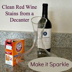 How To Clean Decanter Stains