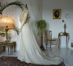 Exquisite Belle Epoque Wedding Gown, Antique Dress, Antique Gown, from antique-gown on Ruby Lane